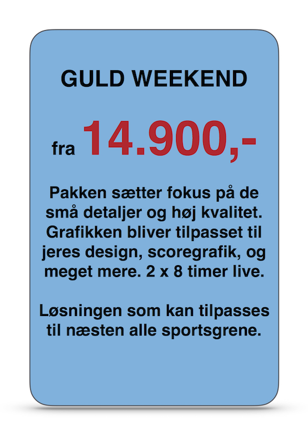 Live streaming GULD WEEKEND a