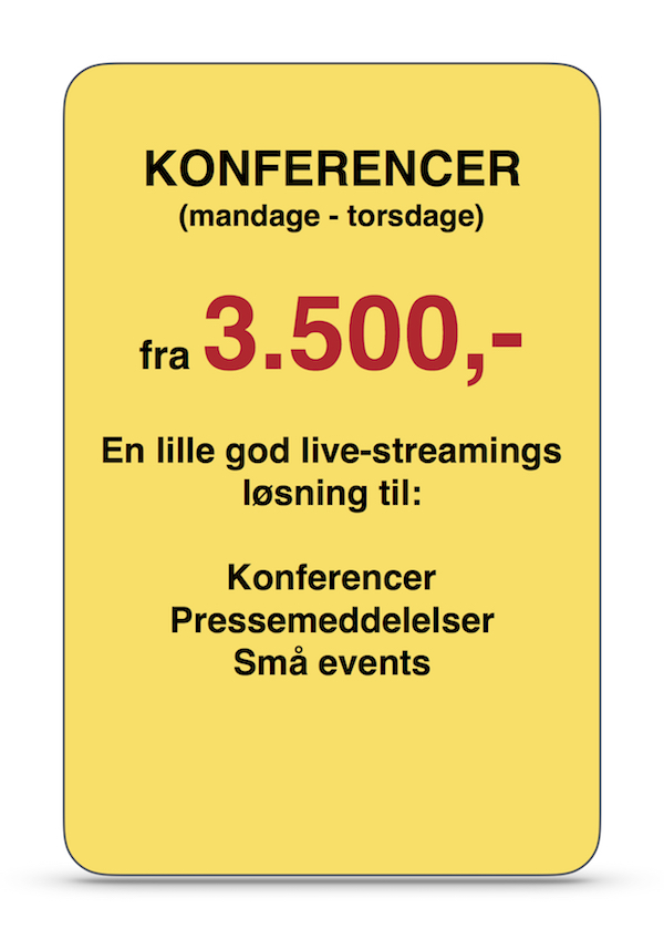 Live streaming KONFERENCER a